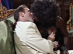 an intense interracial double penetration sex action for a dirty euro ebony slut