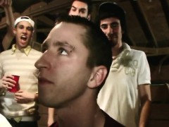 Barnyard college boys hazed into frathouse
