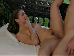 exciting babe sara luvv lets her man gently fuck her in the butt