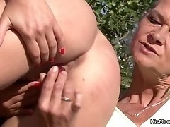 Mom plays with sons gfs pussy