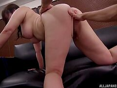 Exclusive hard sex for a busty Japanese mom