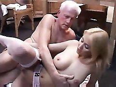 Full fuck scene with gorgeous girl in fishnets