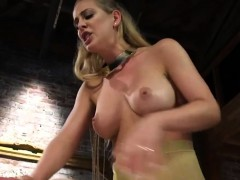Busty femdom Cherie Deville pegging dude
