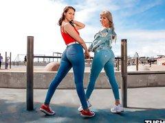 Cute chicks Bella Rolland and Dana DeArmond love intensive anal