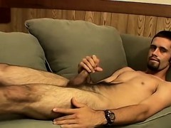 Horny and hairy straight guy Pimp has a load in his balls