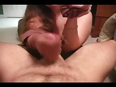 Ball play during handjob