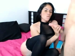 Brunette fucked doggystyle in a car