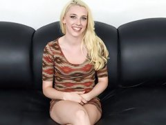 Slutty Blonde Coed Rides A Massive Cock On The Casting Couch