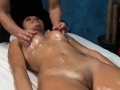 Babe takes off garments and then starts sucking dick of man
