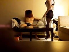 Sultry Japanese babe in stockings gets nailed on hidden cam