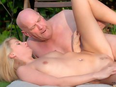Faithful blonde Lara Sweet can't say no for her lovely boss