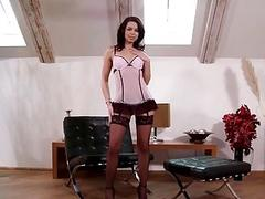 Skinny babe gets her ass eaten and her pussy drilled