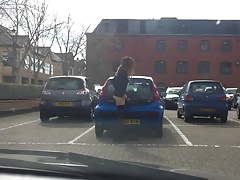 stripping in car park