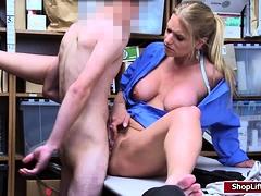 LP officer Rachael sucks shoplifters cock