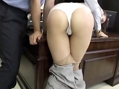 Astounding sex in the office with slut engulfing and fucking