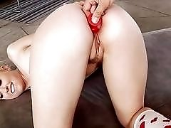 Young blonde and her tight little asshole are fucked deep