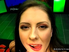 Rebecca volpetti swallowing and receiving hard cocks