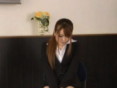 Shy sweetheart enchants her mature colleague in the office