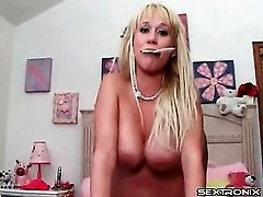 Carly Parker doggystyle makes her tits bounce