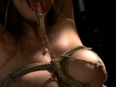 Busty Asian wife brings her bondage fetish fantasy to life