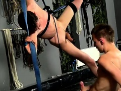 Hot twink scene The view of the dudes bare figure stringing