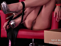 coco gets new dildos for her hot strip!see her using themall