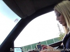 Stewardess Christen Courtney fucked in public by stranger