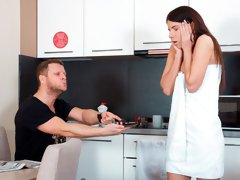 Cute-looking brunette Emily B likes anal penetration so much