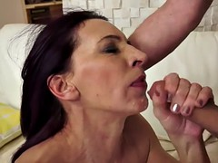 pussylicked grandma gets jizzed in mouth