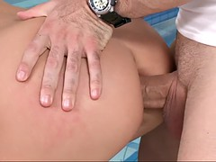 horny brunette got drilled in styles by her instructor gym conquest