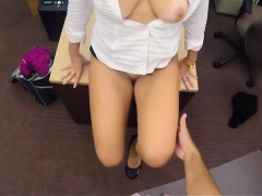 Hot ass babe pawns her pussy and slammed by nasty pawn guy