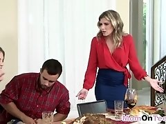 Rough threesome fucking with MILF and Teen Cory Chase and Sydney Cole