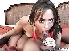 Young slut spit roasted by two dicks