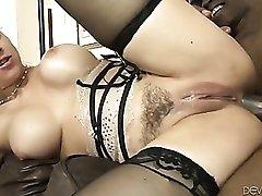 Sarah Vandella fucked in all holes by black cock