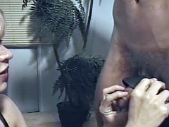 Busty milf playing with a skinny loser in the dungeon