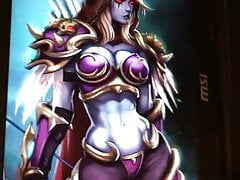 (Tribute) Cumming over Sylvanas from Warcraft
