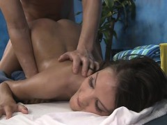 Sexy sweetheart gets drilled hard and gives a massage!