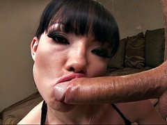 freaking hot girl maya hills gags herself on his huge cock