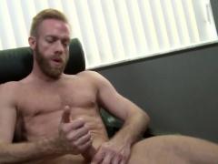 Ripped hunk masturbates