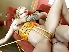 Pretty MILF gets bound and humiliated for some cash BDSM