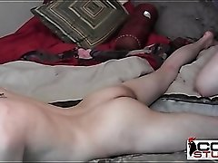 College hottie sits his asshole on a bareback cock