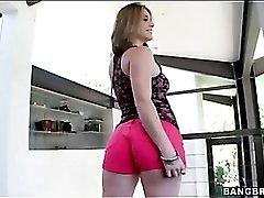 Check out her fine fat ass in tight booty shorts