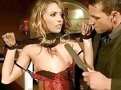 Bondage slave babes enjoy being gagged and fucked rough BDSM