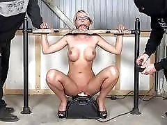 Bound slut riding sybian and enjoying it too BDSM porn