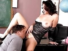 Some sensational fast-paced anal action with gorgeous tranny biology teacher