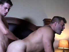 Assfucked hunk in passionate rendezvous