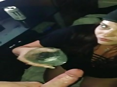 She always enjoys sucking some dick in the night