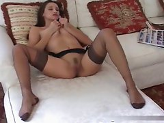 FEET LEGS NYLON & SMOKING FETISH ( Viola Feet )