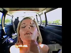 Beautiful blonde face gets a facial