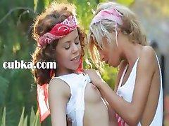 Ultra sensual lesbian licking in grass